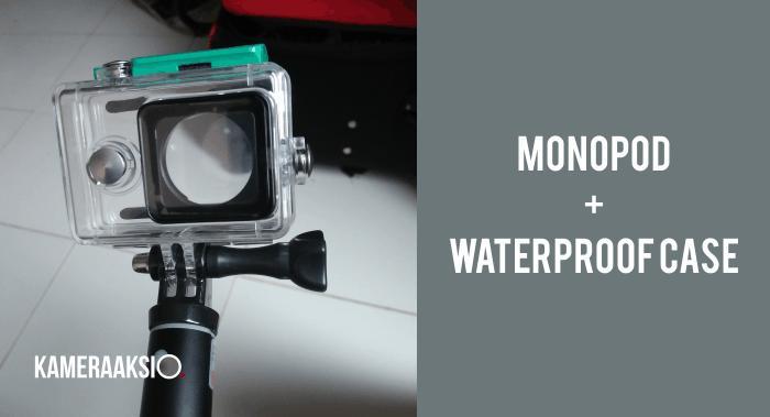 Cara Pasang Wateproof Case ke Monopod