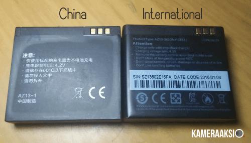 Perbedaan Cell battary Yi Cam China dan International