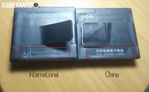 Perbedaan Kapasitas Battery Yi China dan International