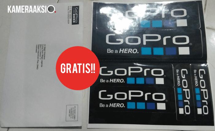 Cara Mendapatkan Stiker GOPRO Gratis