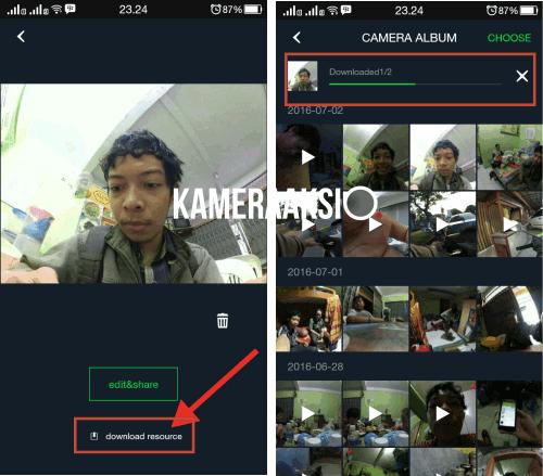 Cara Memindahkan Foto Yi Camera ke Smartphone