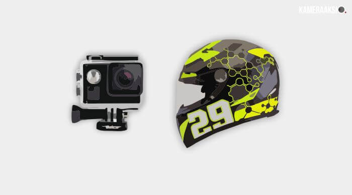 Model Style Pasang Action Camera di Helm