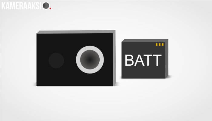 Pake Battery Yi Cam China Version di Yi Cam Inter Version