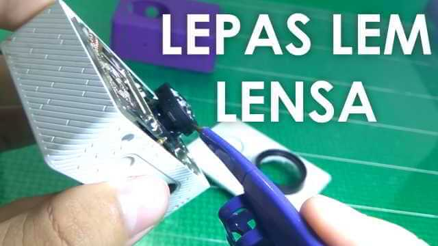 Cara Lepasin Lem di Lensa Yi Action Sebelum Pasang Lensa Baru