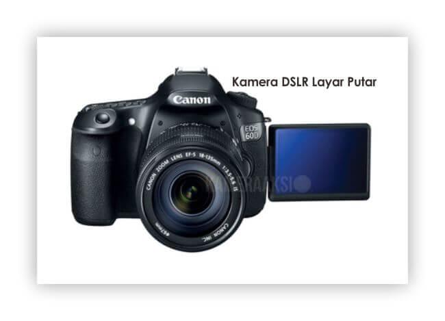 Kamera DSLR Layar Putar Canon 60D Kameraaksi