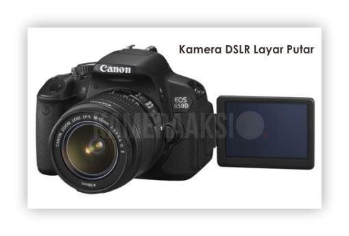 Kamera DSLR Layar Putar Canon 650D Kameraaksi