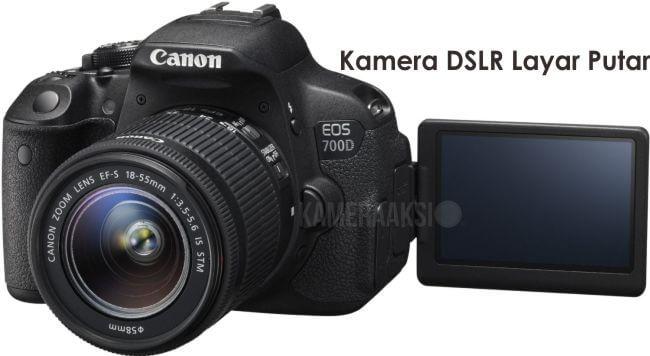 Kamera DSLR Layar Putar Canon 700D Kameraaksi