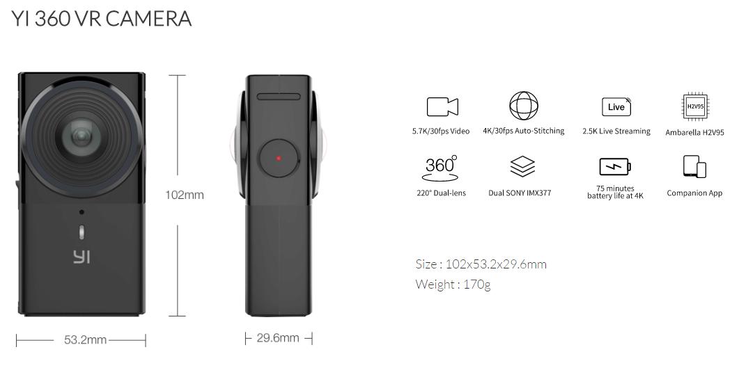YI 360 VR CAMERA, Camera 360 Yi Technology