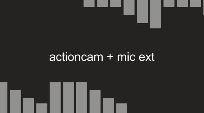 Camera Action Yang Mempunyai Eksternal Mic