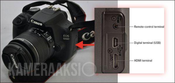 Canon 1200D dan 1300D Tidak Ada Port Mic