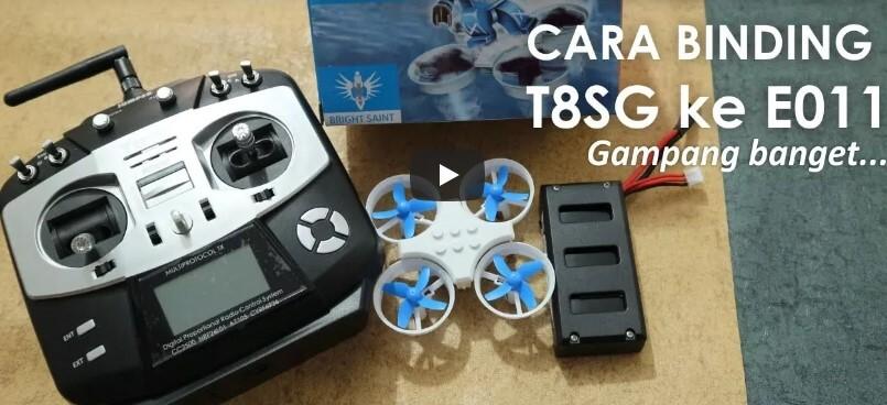 Cara Binding Remote Jumper T8SG ke Drone Eachine E011