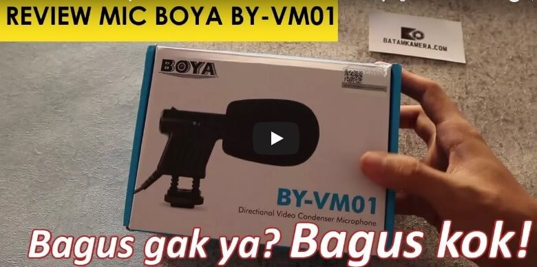 Review Mic Kamera Boya BY-VM01 Kameraaksicom