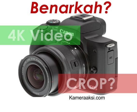 Canon M50 Mirrorless Bisa 4K Video Tapi Crop