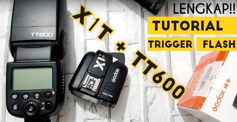 Tutorial Cara Menyambungkan Trigger Godox X1T ke Flash TT600