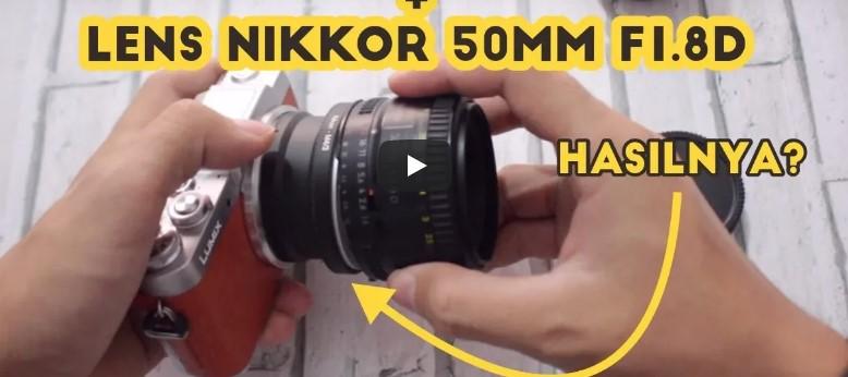 Pake Lensa Nikon di Lumix