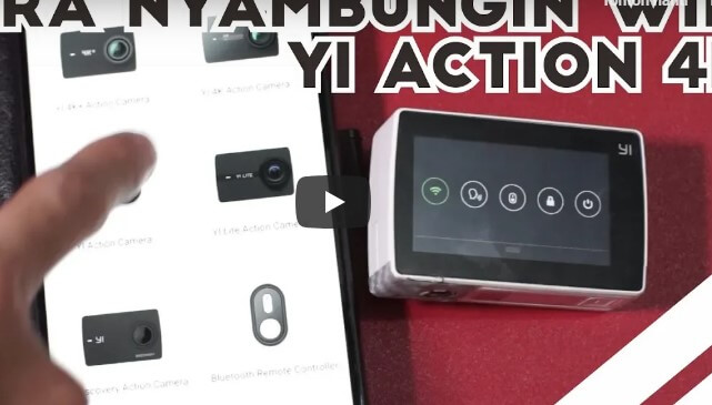 Cara Menyambungkan Wifi Yi Action 4K ke Smarphone
