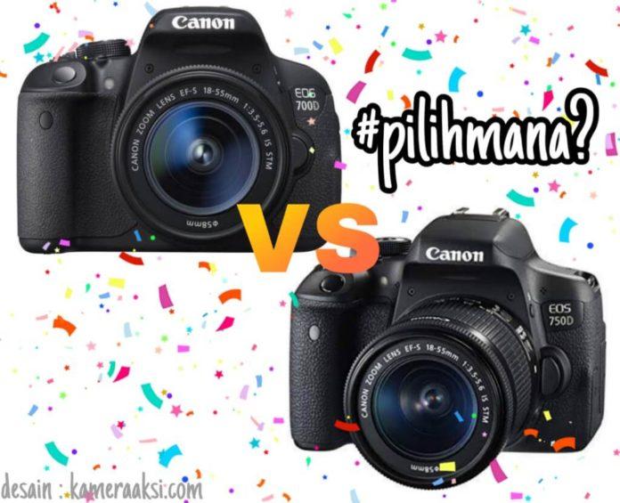 Perbedaan Spesifikasi Kamera Canon 700d dan 750d