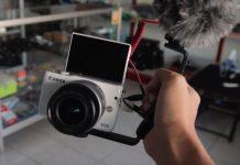 Kamera Canon M10 dan M100 Mic Eksternal