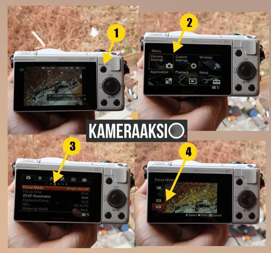 Cara Aktifkan Mode Manual Fokus Kamera Sony A5000