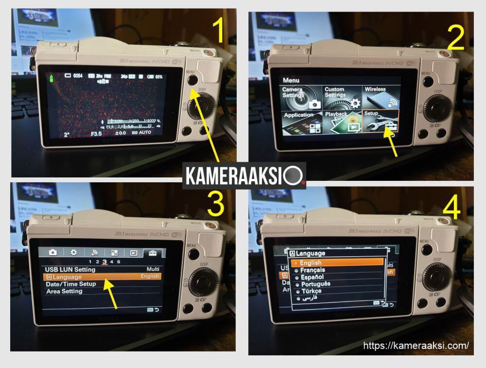Cara Ganti Bahasa Kamera Sony A5000