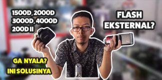 Flash Eksternal Support Canon 4000D 3000D 2000D 1500D