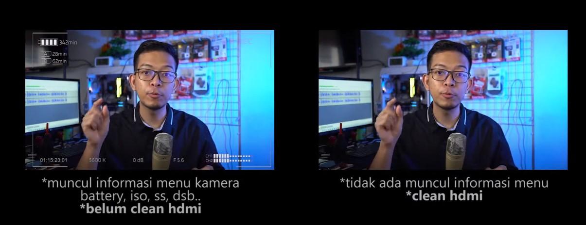 Clean HDMI dan Non Clean HDMI Kamera