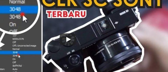 Cara Cek Shutter Count Kamera Sony Mirrorless Terbaru 2018