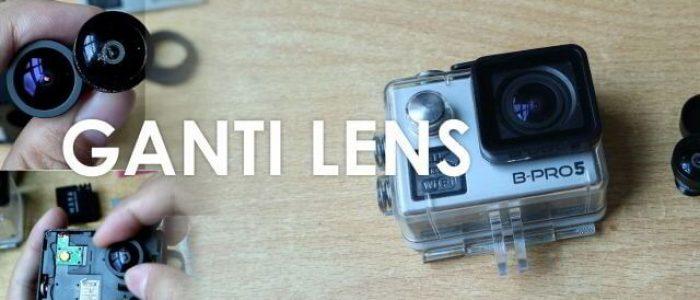 Cara Ganti Lensa B-PRO5 AE2 4K Dengan Lensa Gopro 170