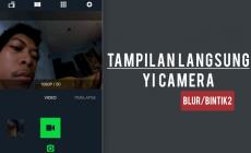 Permalink ke Gambar di Layar Aplikasi Blur dan Bintik Yi Camera