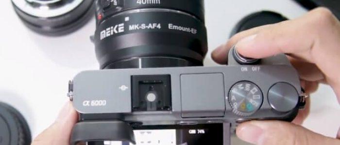 Unboxing dan Tes Adapter Meike MK-S-AF4 Sony E mount to Canon EF/EF-S Lens