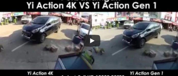 Perbandingan Hasil Video Yi Action vs Yi Action 4K