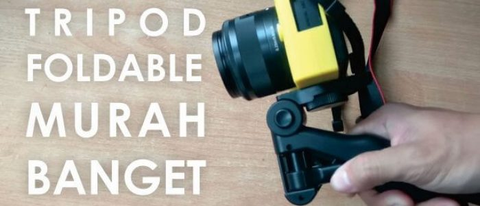 Review Tripod Mini Foldable, Mini Tripod Murah Banget Untuk DSLR, Action Cam, Hp