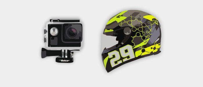 Model Style Pasang Action Camera di Helm